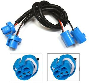 Extension Wire P 9004 HB1 Two Harness Head Light Bulb Replace Socket Female Fit