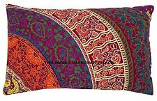Indian 100% Cotton Pillow Sham Mandala Design Cushion Cover Pouf Case Boho Decor
