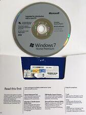 Microsoft Windows 7 Home Premium 64 Bit   Full license [DVD + COA Key] New !