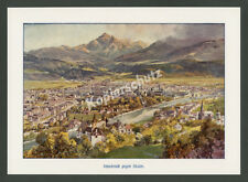 Compton Innsbruck Panorama von Hötting Weiherburg Alpen Isel Serles Tirol 1918
