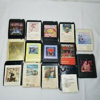 8 Track Tape Lot Mixed Variety Rock Country gospel 15 Tapes