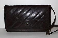 CLUTCH Schultertasche Tasche Leder VINTAGE Handtasche Bag Kuvert Assima