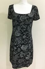 Table Eight Women's Business Corporate Shift Dress Black Size 8