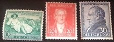 Germany 1949 Goethe Set Of 3 Stamps Mint Hinged