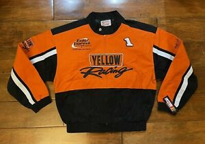 Jimmy Spencer #1 Yellow Racing Race Jacket Mens Size Large NASCAR New Bulldawg