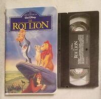 """Walt Disney """"Le Roi Lion"""" (Version Francaise) French VHS Movie Cassette Tape"""