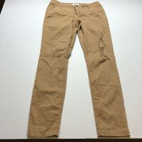 BKE Buckle Mollie Skinny Distressed Light Brown Tan Pants Size 28 A1889