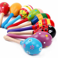 1pcs Kids Wooden Ball Cute Sand Hammer Rattle Musical Instrument Christmas Gift