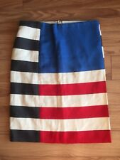 ACNE Black White Red And Blue Stripe Layla Flag Panelled Skirt Size 34 SOLD OUT