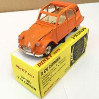 DINKY TOYS 011500 2CV CITROEN ORANGE DIE-CAST ATLAS 1/43 MODEL CAR
