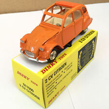 DINKY TOYS 011500 2CV CITROEN ORANGE DIE-CAST ATLAS 1/43 MODEL CAR
