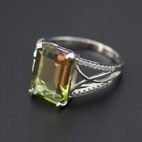 14*10mm color change diaspore 925 sterling silver ring for women wedding gift