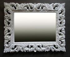 Wandspiegel Weiß Ornament 100x80 Standspiegel Spiegel Flurspiegel Badspiegel