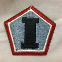 Military I Army Group Patch Badge White Back