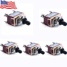 5x Heavy Duty 20A 125V DPST 4 Terminal On/Off Toggle Switch with Boot US Stock