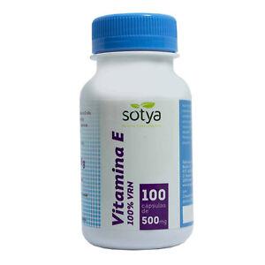 VITAMINA E 100% VRN - 100, 200, 300 o 500 Comprimidos - SOTYA