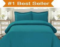 Luxury 100% PolyCotton Duvet Quilt Cover & Pillowcase Bedding Set All Sizes