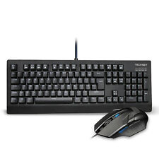 TeckNet Water Resistant Wired Backlit Mechanical Gaming Keyboard and Mouse Combo