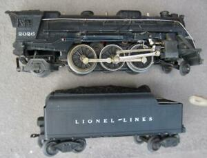 1950's Lionel 2026 Steam Engine With 6466wx Whistle Tender