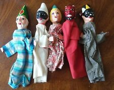 5 Vintage Mexican Puppets Early 1980's Mexico devil clown mask halloween scary