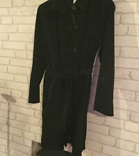 AGENDA FULL LENGTH BLACK SUEDE COAT, SIZE 16 IN NICE CONDITION