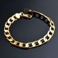 Herren Armkette 18k Vergoldet Gestempelt Gold Panzerkette Armband Königskette