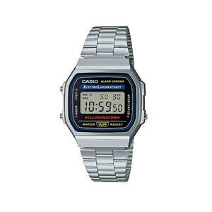 CASIO A168WA-1WCR,Uhr,Silber,Illuminator,digital, retro,Vintage,Iconic