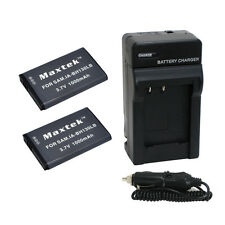 2 x IA-BH130 Battery + Charger for Samsung HMX-W190 W200 W300 W350 SMX-C100 C200