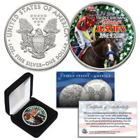 JUSTIFY TRIPLE CROWN WINNER 1 Troy Oz 2018 AMERICAN SILVER EAGLE w/ Display Box