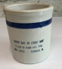 Antique Red Wing Advertising - Beater Jar, Sumner Iowa