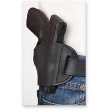 Black Leather OWB Belt hand Gun Holster for Glock 43 9mm