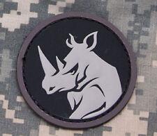 Mil-Spec Monkey Rhino Head Morale Patch SWAT Hook Back