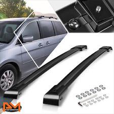 For 05-10 Honda Odyssey OE Style Aluminum Roof Rack Crossbar Luggage Rail Black