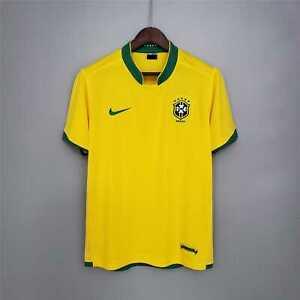 2006 Brazil Home Retro Soccer Jersey