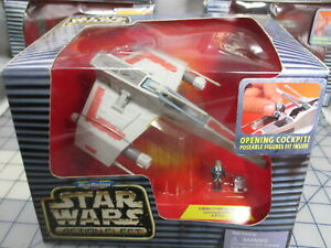 E-Wing Fighter MicroMachines Star Wars Action Fleet Rebel Pilot R2 Droid NEW