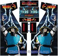 Mortal Kombat 2 Side Art Arcade Cabinet Artwork Graphics Decals Full Set MK2
