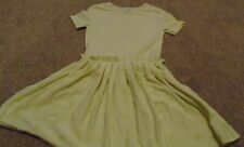 No Added Sugar light yellow Fanciful dress spot skirt 9-10