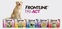FRONTLINE TRI-ACT Ticks and flea treatment dog 3 pipettes all sizes