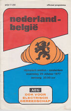 Programme / Programma Holland v Belgium 26-10-1977 World Cup 1978 Qualifier