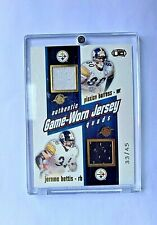 2002 Pacific Authentic Game-Worn Jersey Quads #d 33/45 Steelers, Bettis,Burris.