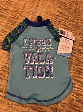"""STAY COOL """"I NEED A VACATION"""" T-SHIRT Puppy/Dog small"""