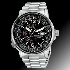 Citizen BJ7000-52E Mens Watch Eco-Drive NightHawk Black Pilots Black Dial