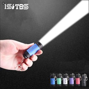 LED Mini Flashlight Key Chain Portable Torch Outdoors Waterproof Built-inBattery