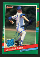 Lance Dickson #424 signed autograph auto 1991 Donruss Baseball Trading Card