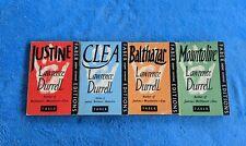 LAWRENCE DURRELL 4 Paperback Book Lot Mountolive Balthazar Clea Justine Faber
