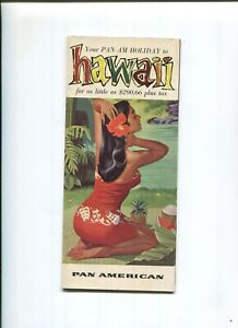 """""""Your Pan Am Holiday to Hawaii"""" 16 page Travel Brochure 1957 Pre-Statehood"""