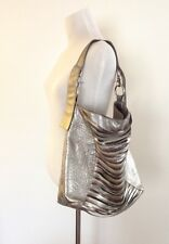 """Jacqueline Jarrot"" Large Metallic Shoulder Bag"