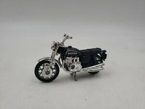 Vintage Honda Diecast Black Motorcycle Hong Kong w3