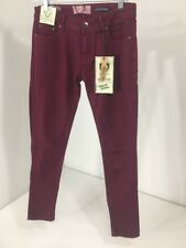 BOOHOO WOMEN'S EVIE LOW RISE SKINNY JEANS BERRY UK:12/US:8 NWT