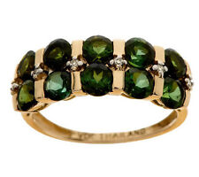 2.30 ct tw Tourmaline & Diamond Accent Band Ring, 14K Size 9